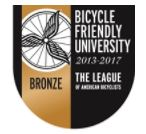 Seal designating a Bicycle Friendly University